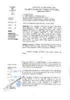 Délibérations N°2016-01 du conseil municipal du 18/01/2016