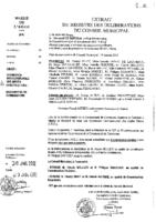 Délibérations N°2012-08 du conseil municipal du 25/01/2012