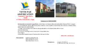 Vente par adjudication @ Office Notarial de L'Aigle
