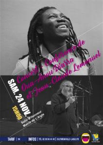 Jazz en Ouche: Concert-Conférence de Oua-Anou Diarra et Jean-Claude Lemenuel @ Salle d'honneur de la Mairie de L'Aigle